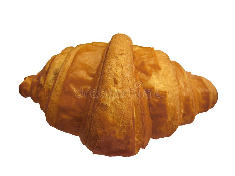 Croissant isolated on white royalty free stock photography