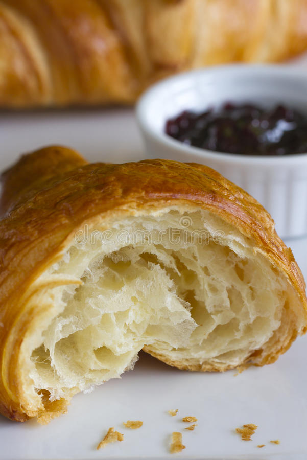 Download Croissant and jam stock photo. Image of sweet, food, croissant - 35331418