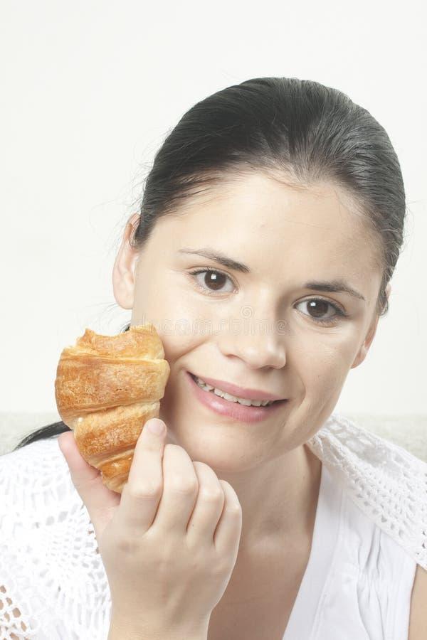 croissant kobieta obraz royalty free