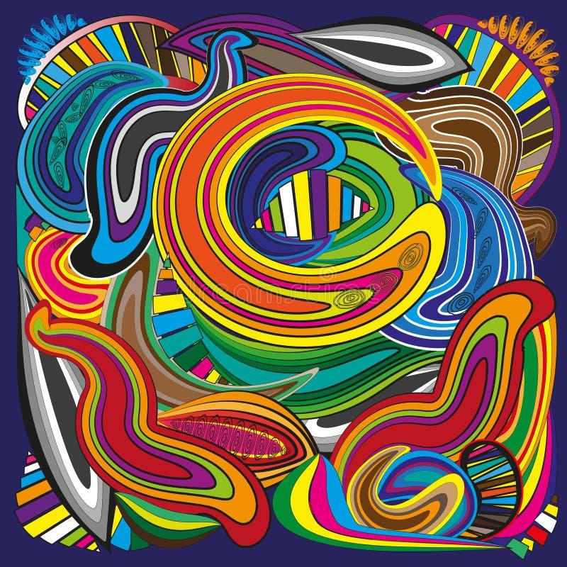 Croissant lumineux de caramel d'abstraction illustration stock