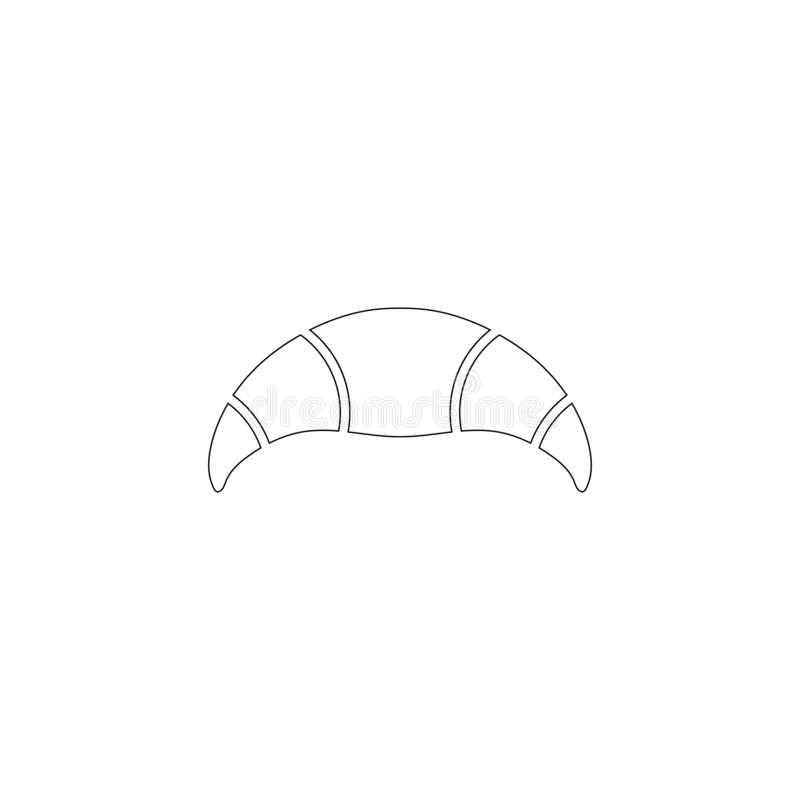 Croissant P?aska wektorowa ikona ilustracji