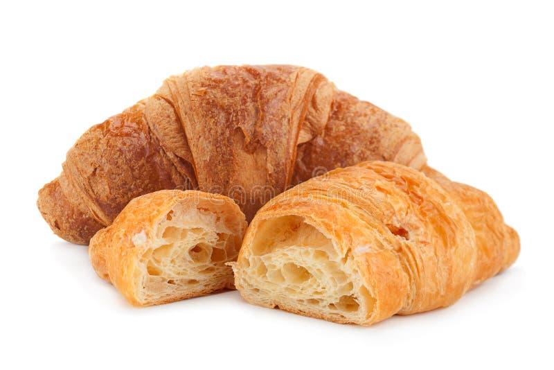 Croissant przekąska na bielu fotografia royalty free