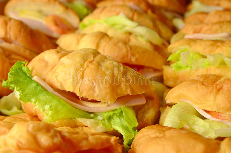 Download Croissant sandwich stock image. Image of pastry, snack - 26649193