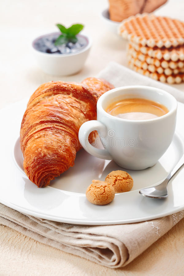 Download Croissant Served With Espresso Stock Photos - Image: 28651813