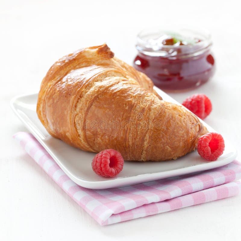 Croissant y atasco fotografía de archivo