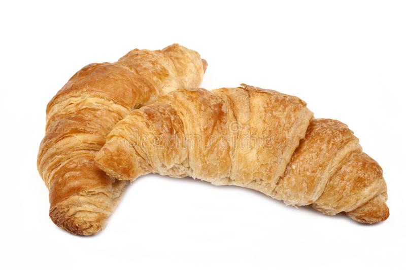 Croissants. On a white background stock photography