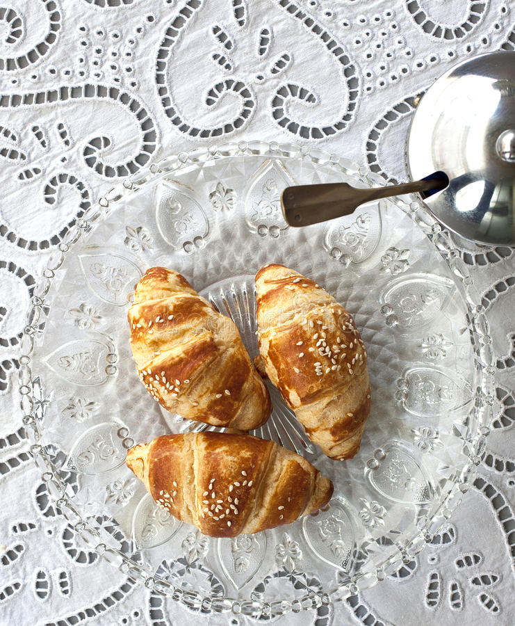 Download Croissants stock photo. Image of french, brown, sugar - 29669422