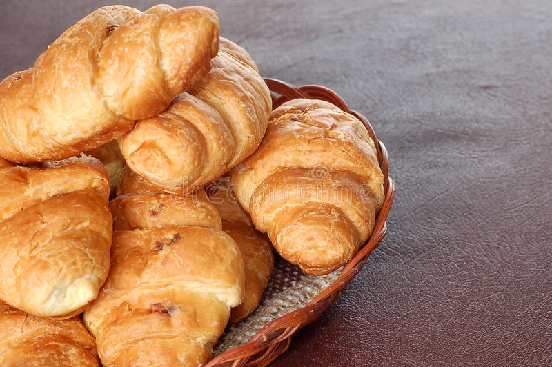 Croissants fotografia de stock royalty free