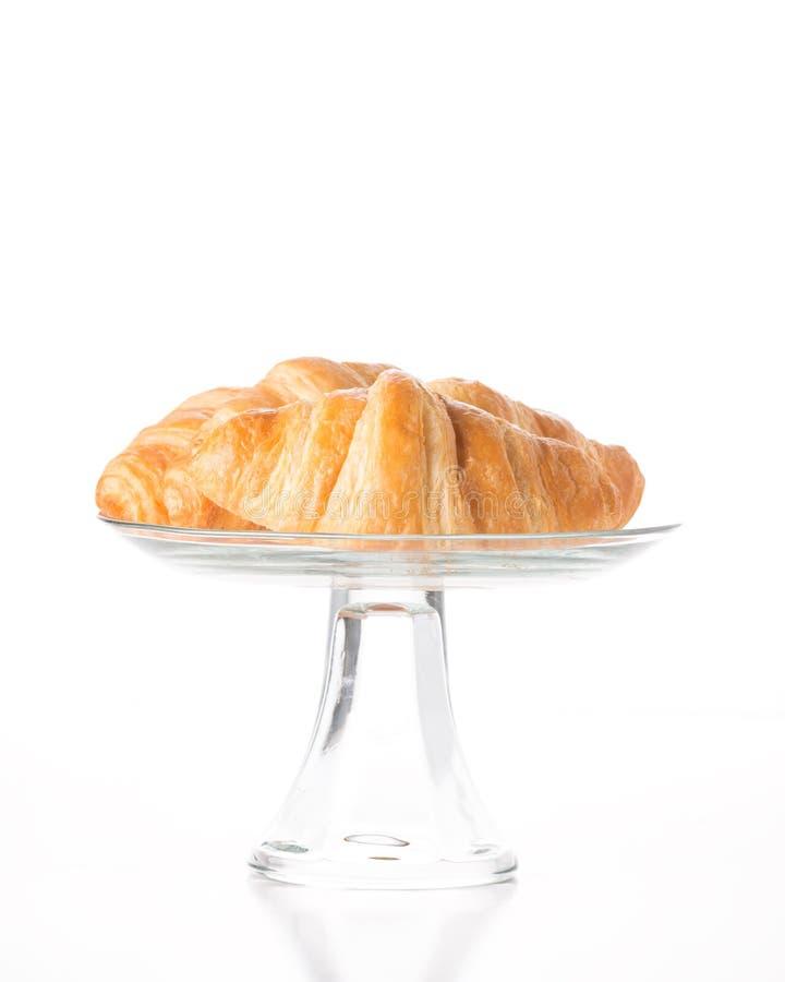 Croissants amanteigados frescos foto de stock royalty free