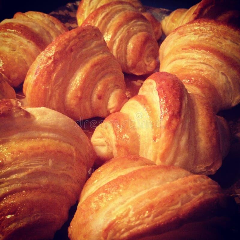 Croissants caseiros foto de stock royalty free
