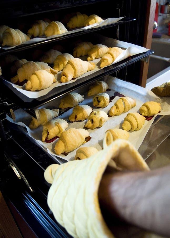 Croissants caseros fotos de archivo