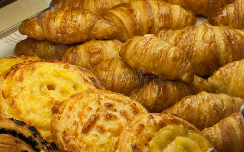 Croissants and Cheese bun royalty free stock images