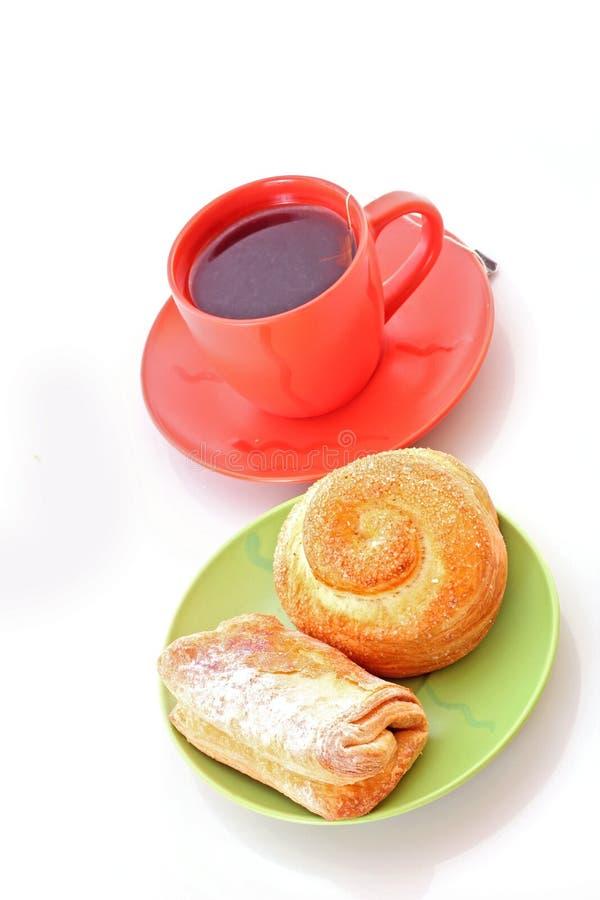 Croissants e panini immagine stock