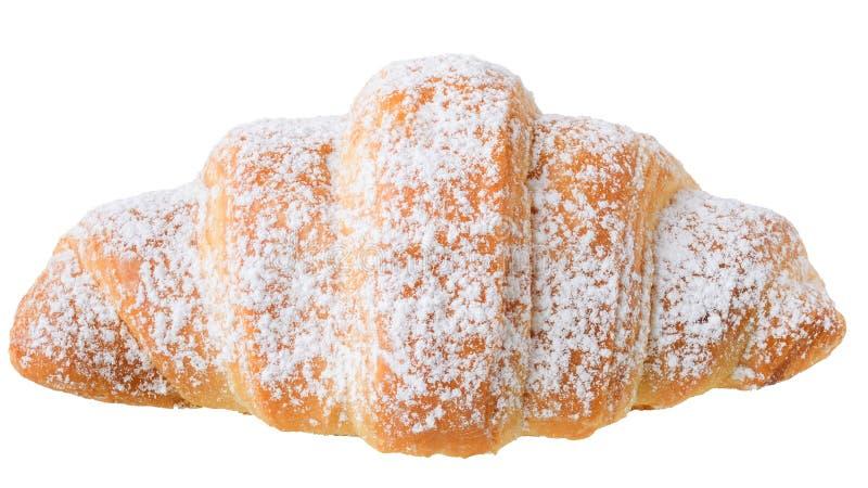 Croissants en sucre en poudre photographie stock
