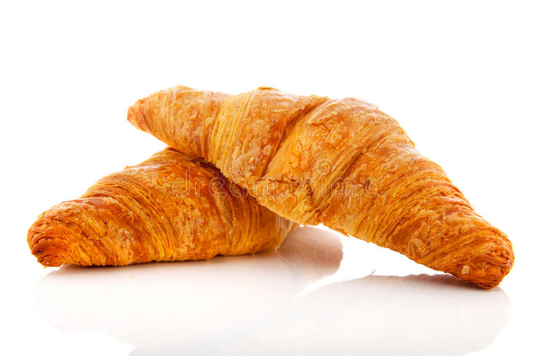 Download Croissants Isolated On White Background Stock Photo - Image of breakfast, buns: 28885142