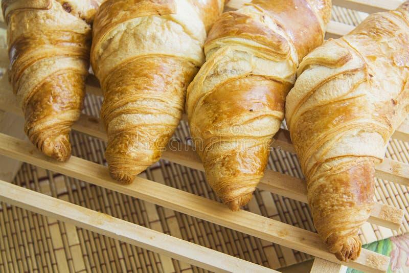 Croissants met het voelen royalty-vrije stock fotografie