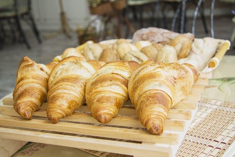 Croissants met het voelen royalty-vrije stock foto