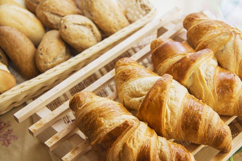 Croissants met het voelen royalty-vrije stock foto's