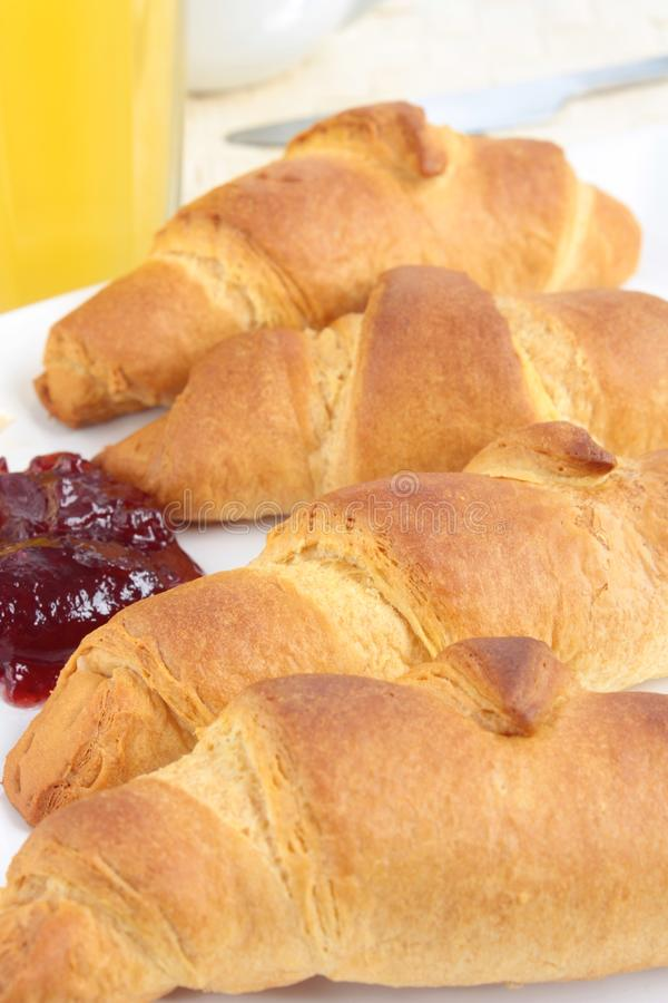 Free Croissants With Jam Royalty Free Stock Image - 22185396