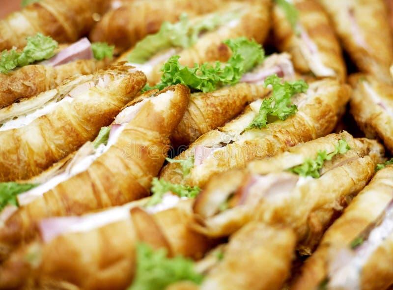 Croissants z mięsem zdjęcie royalty free