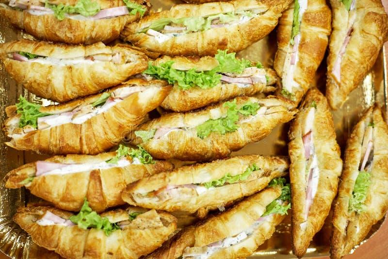 Croissants z mięsem obrazy royalty free