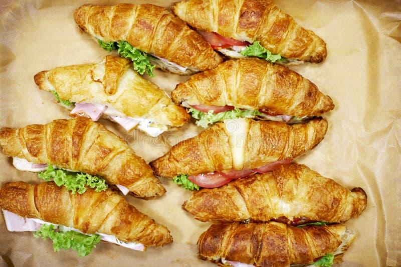 Croissants z mięsem zdjęcia royalty free