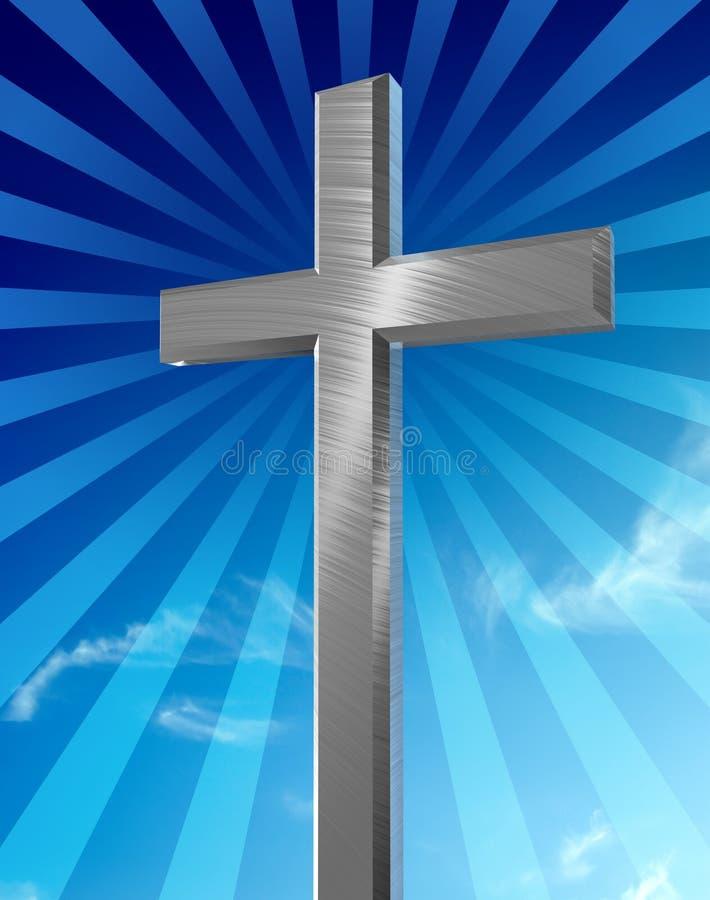 Croix argentée illustration de vecteur
