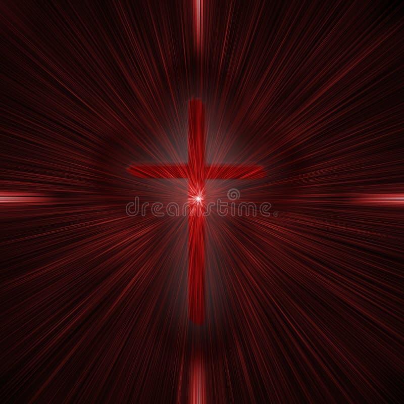 Croix avec des faisceaux image stock