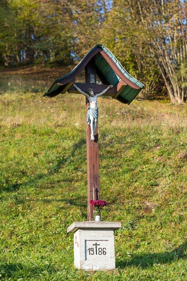 Croix avec Jesus Christ image libre de droits