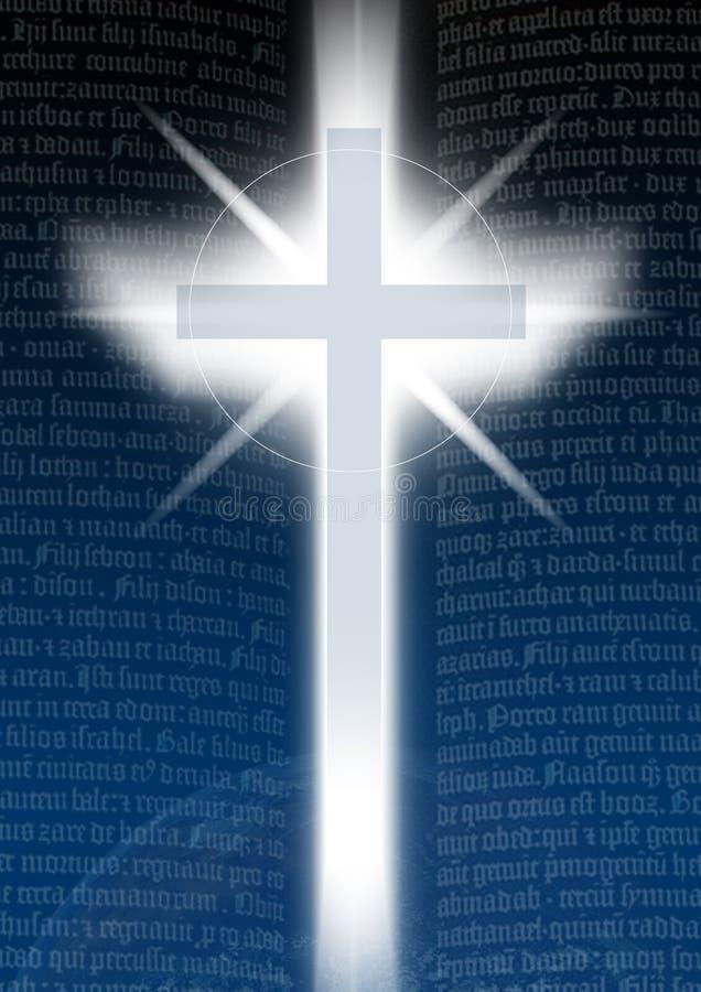 Croix avec le texte de Bilble illustration libre de droits