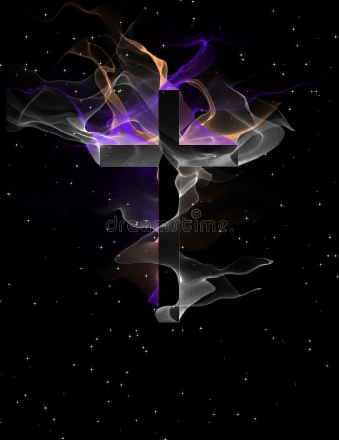 Croix avec les formes circulantes illustration de vecteur