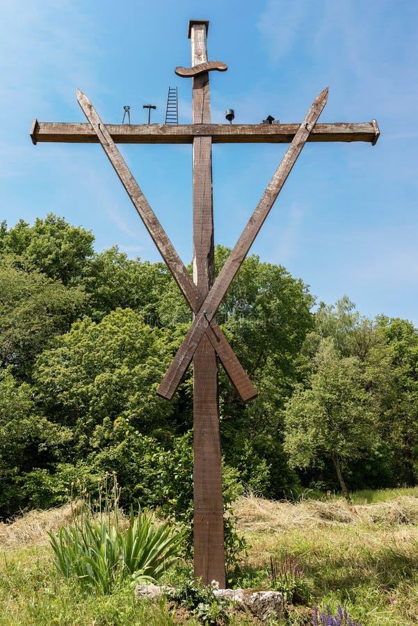 Croix avec les symboles de la passion du Christ photo libre de droits