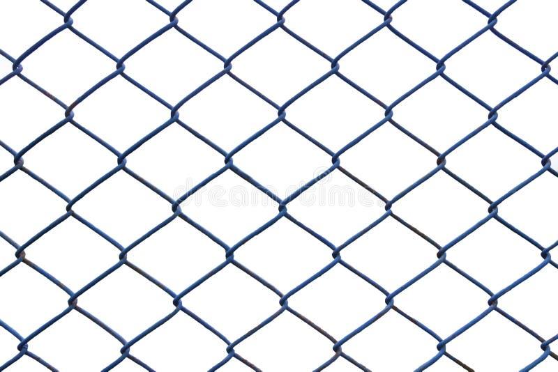 Croix bleue de barrière sur le blanc images libres de droits