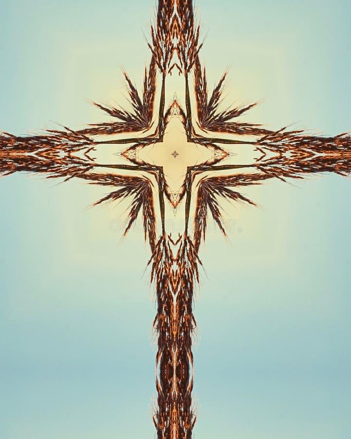Croix bleue de vétiver images libres de droits