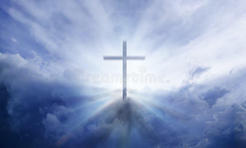 Croix céleste images stock