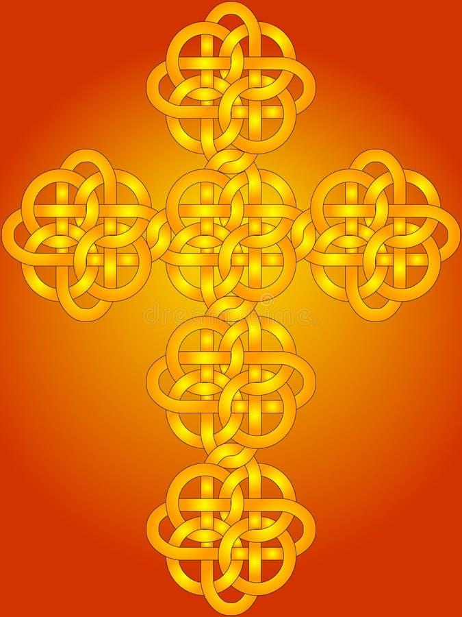 Croix celtique de noeud illustration de vecteur