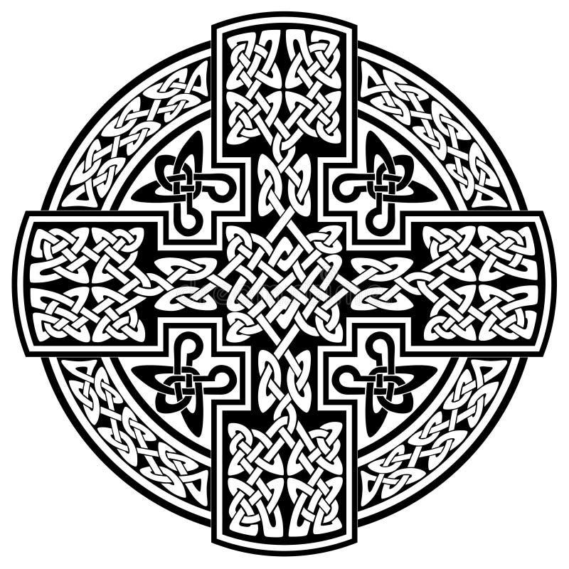 Croix celtique de vecteur illustration libre de droits