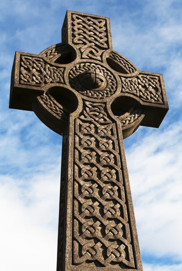 Croix celtique en pierre 4 image stock