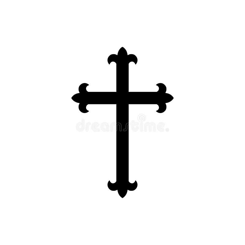 Croix chrétienne d'isolement - png illustration de vecteur