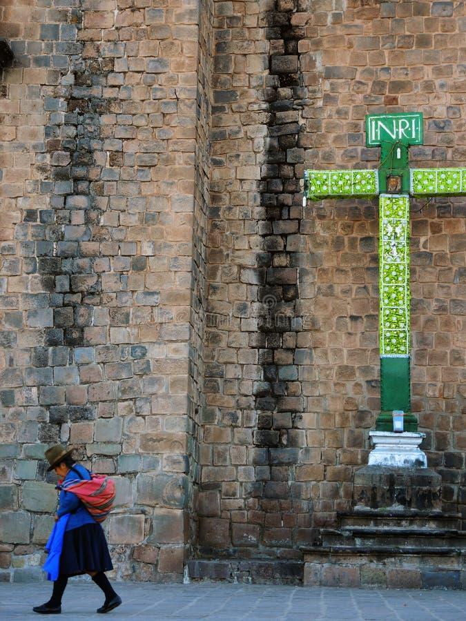 Download Croix Chrétienne Dans Cusco, Pérou Photo éditorial - Image du andes, indigène: 77152106
