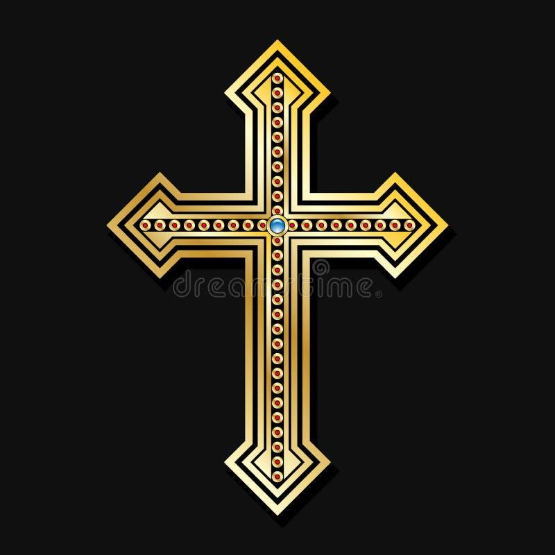 Croix chrétienne orthodoxe illustration libre de droits
