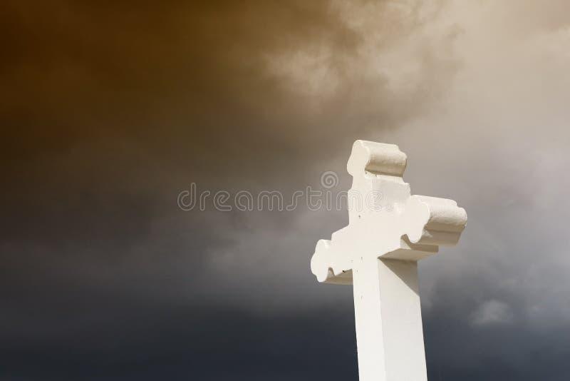 Croix chrétienne rustique photos libres de droits