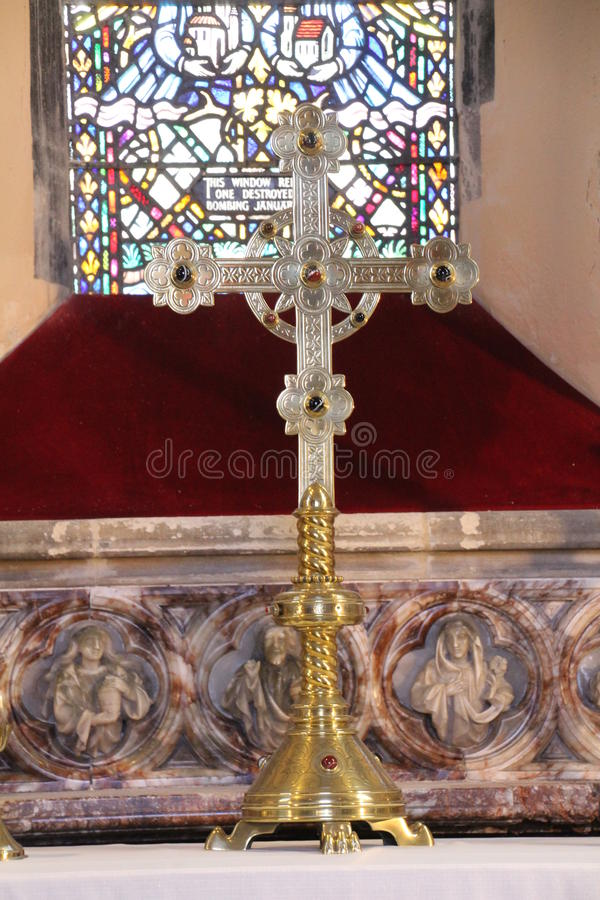 Croix d'autel photographie stock