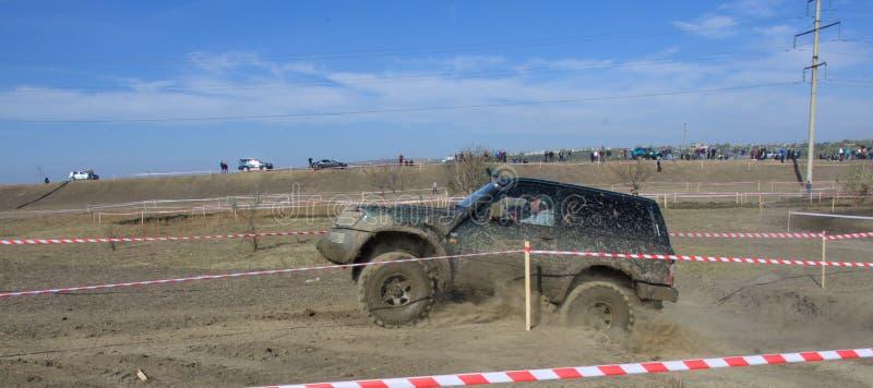 Croix d'essai 4x4 de jeep de Moldau Ohei photo libre de droits