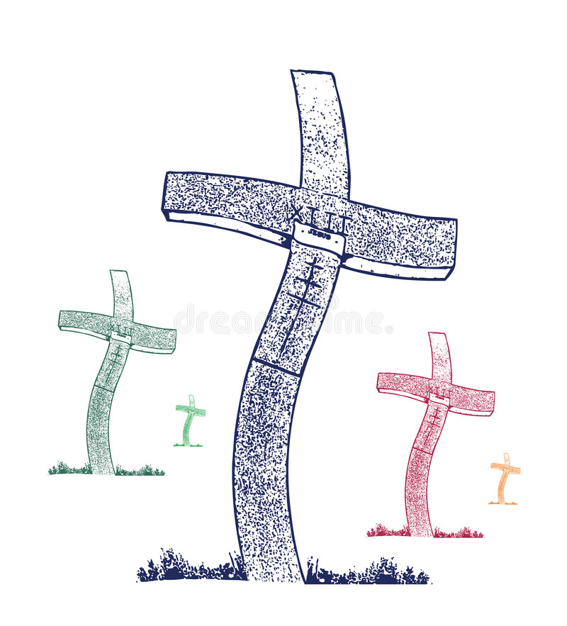 croix de chrétien de couleur images stock