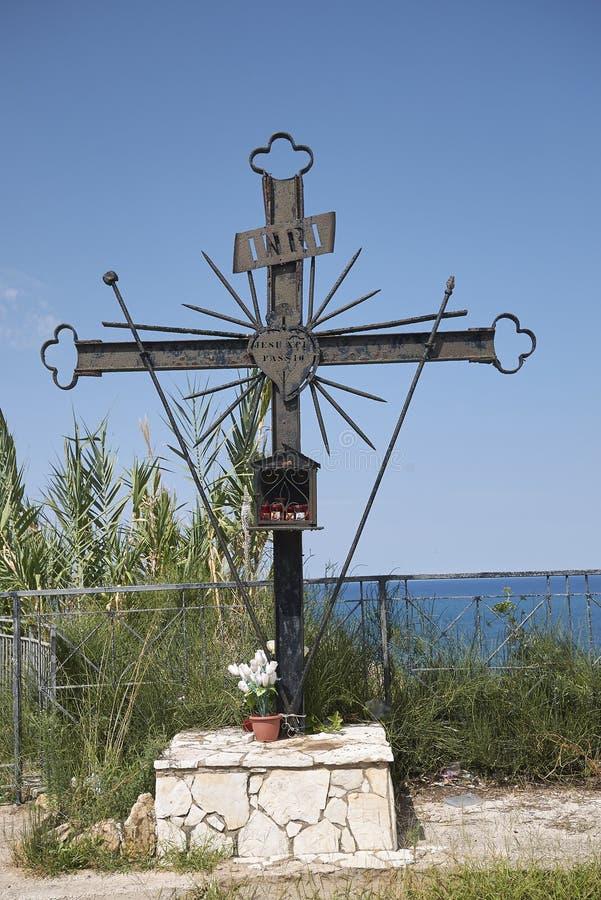Croix de chrétien de fer images libres de droits