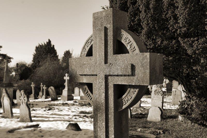 croix de cimetière ely image libre de droits