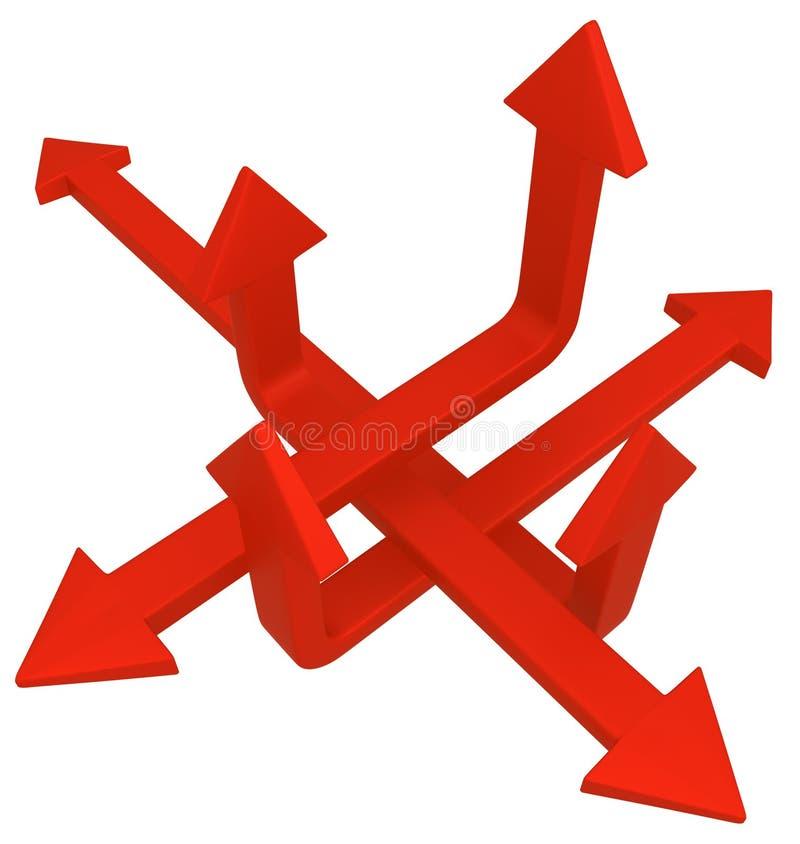 Croix de flèche ascendante illustration libre de droits