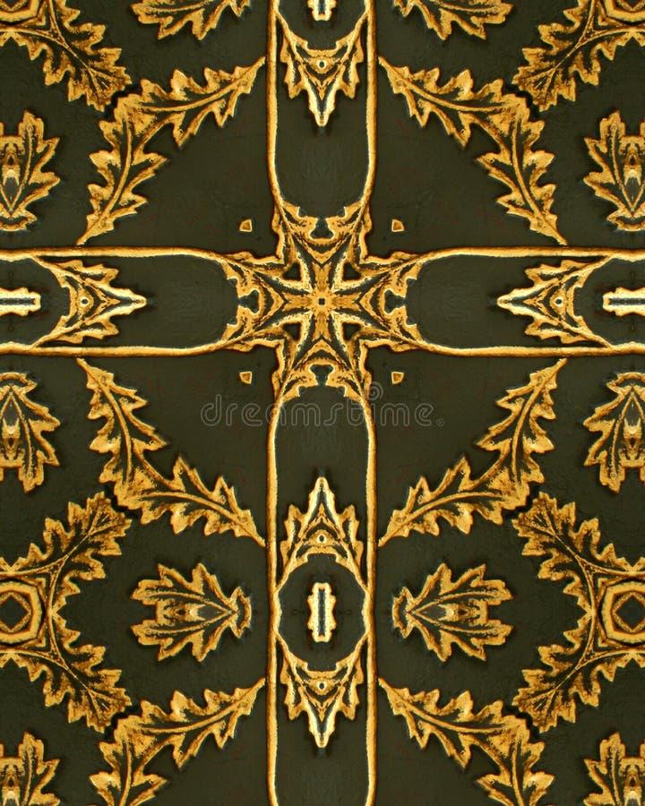 Croix de lame d'or images libres de droits