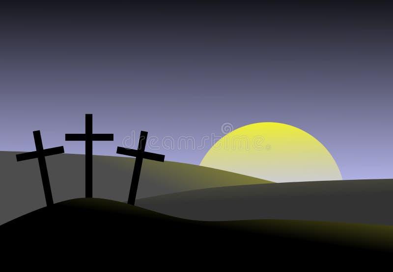 Croix de Pâques illustration de vecteur
